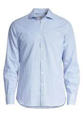 Canali Modern-Fit Small Check Sport Shirt