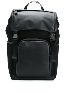 Canali multi-pocket leather backpack