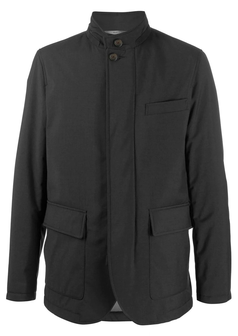 Canali padded lightweight jacket