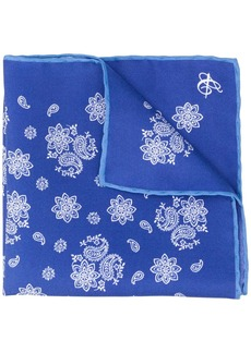 Canali paisley print handkerchief