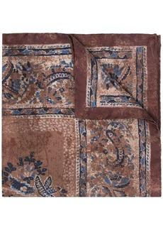 Canali paisley print scarf