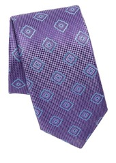 Canali Pattern Square Silk Tie