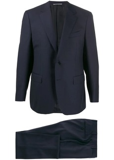Canali piped seam single-breasted suit