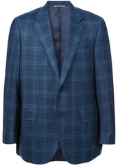 Canali plaid single-breasted blazer
