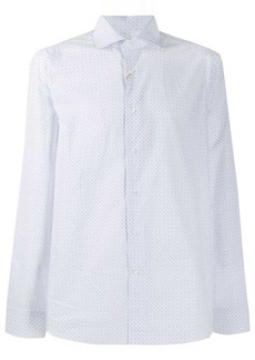 Canali printed formal shirt