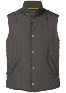 Canali quilted gilet