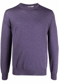 Canali ribbed crew neck jumper