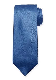 Canali Silk Cable Motif Tie  Light Blue