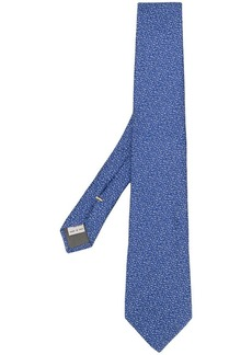 Canali silk patterned tie
