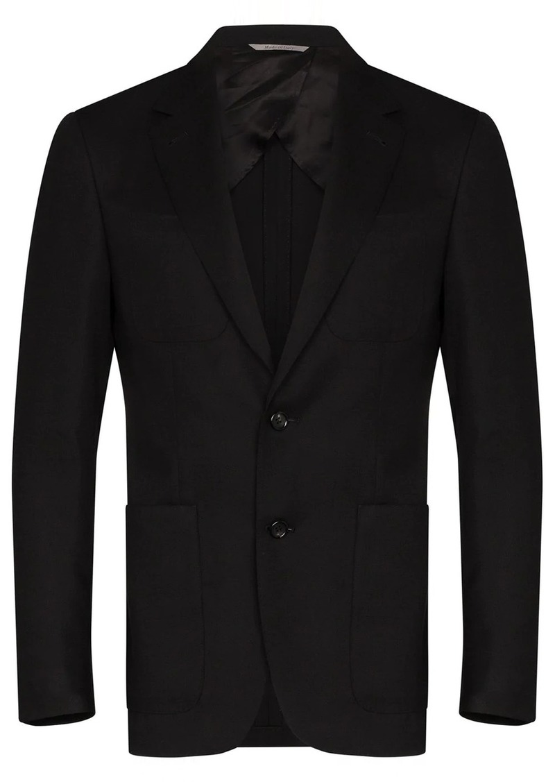 Canali single-breasted notched-label blazer