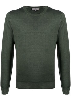 Canali slim-fit crew-neck pullover