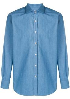 Canali slim-fit denim shirt