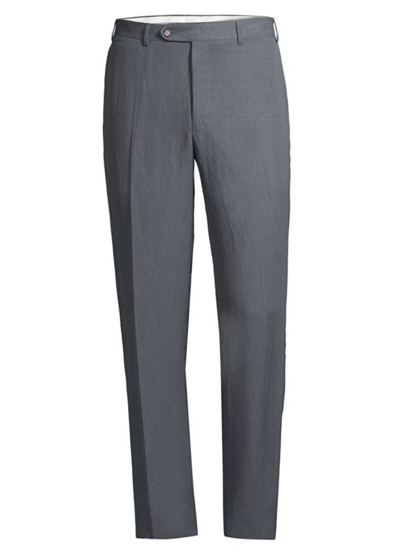 Canali Slim-Fit Linen-Silk Trousers