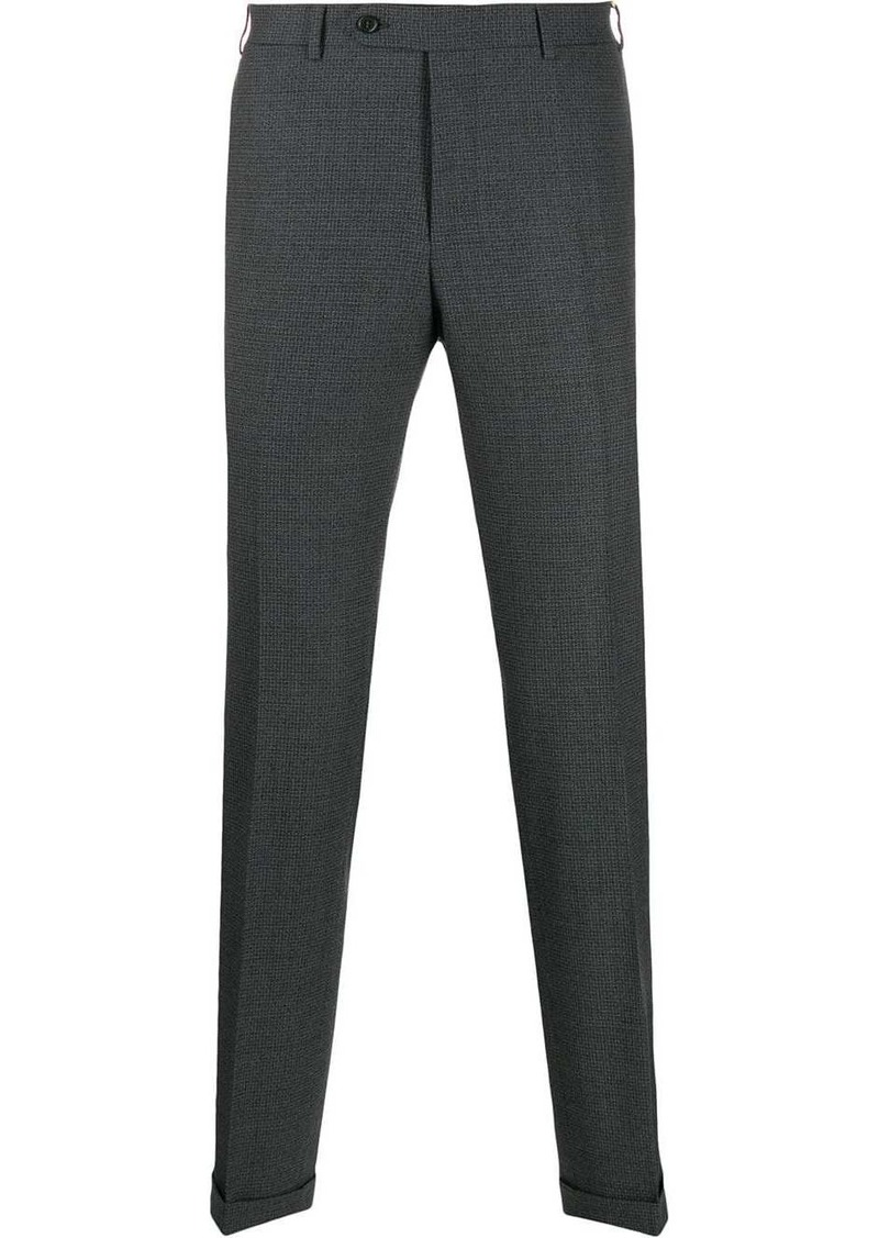 Canali slim fit pleated trousers