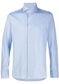 Canali spread-collar shirt