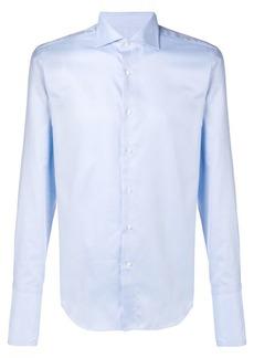 Canali spread collar shirt
