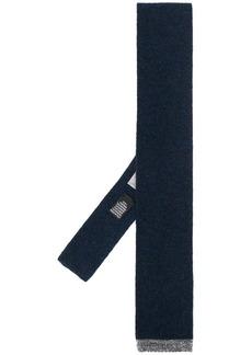 Canali square-tip cashmere tie
