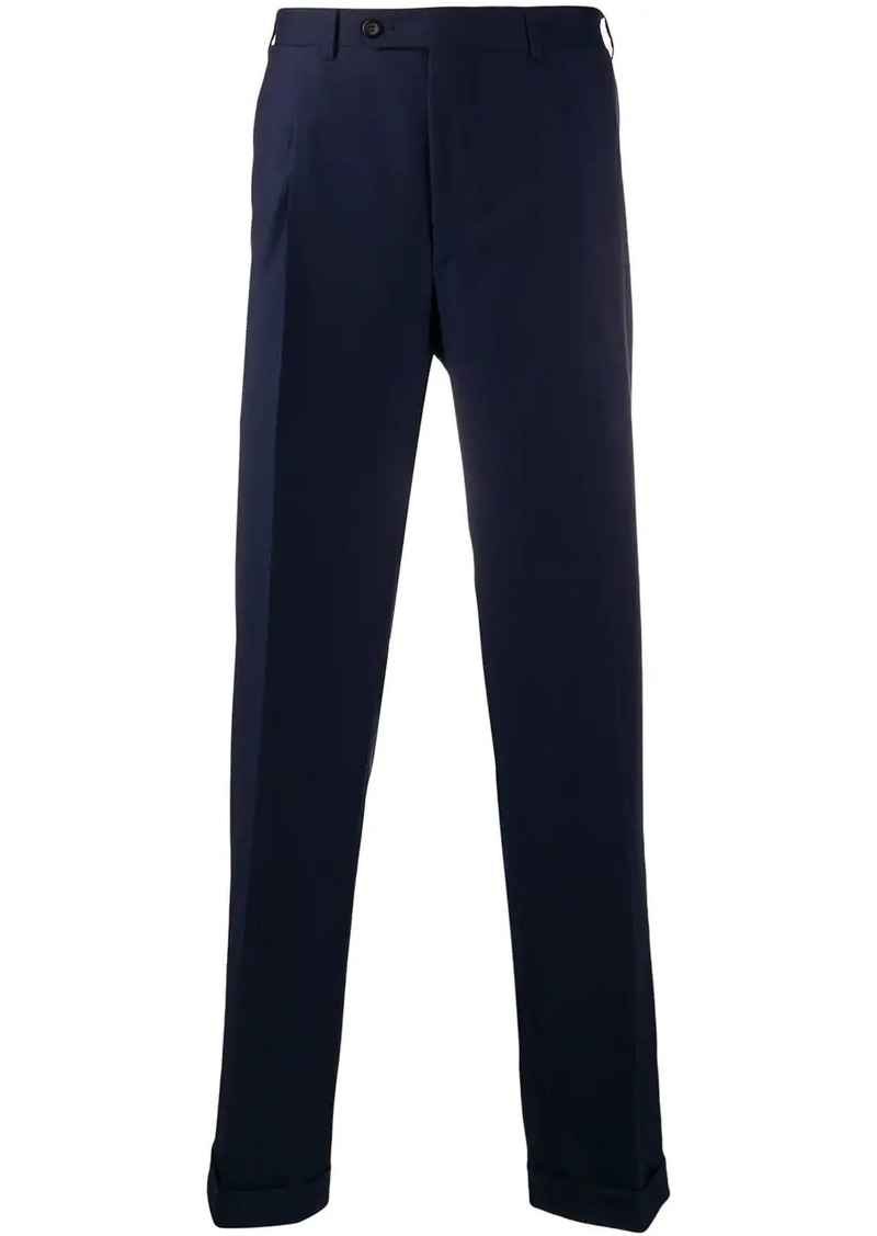 Canali straight leg trousers
