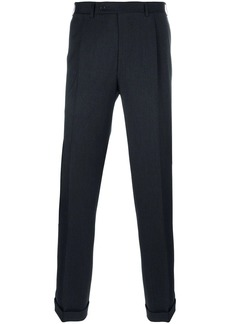 Canali straight leg pleated trousers