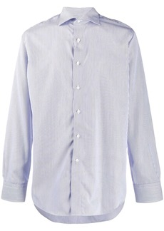 Canali striped long-sleeve shirt