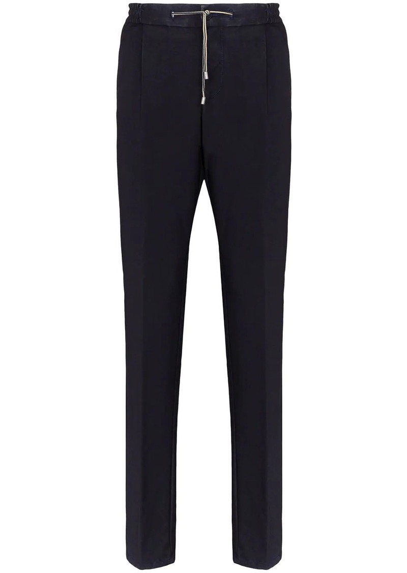 Canali tailored drawstring trousers