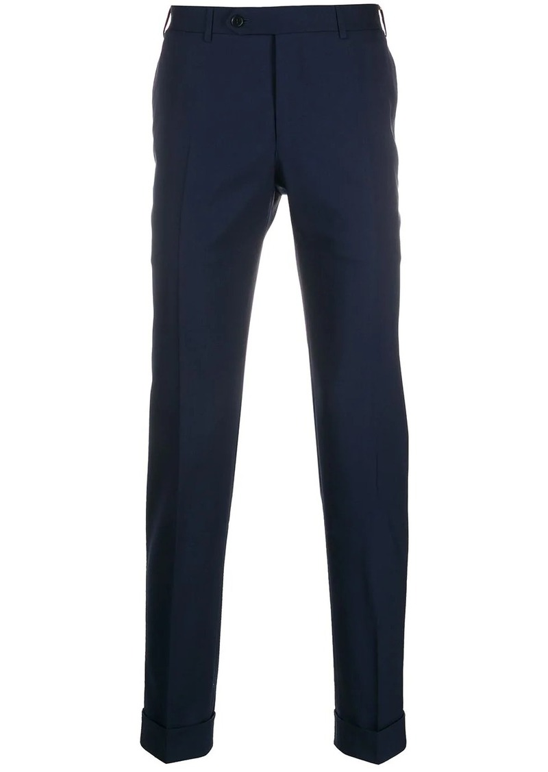 Canali tailored pleated trousers