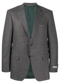 Canali textured check patterned suit jacket