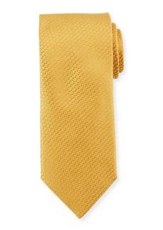 Canali Textured Solid Silk Tie
