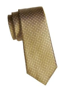 Canali Tile Print Silk Tie