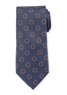 Canali Tossed Pines Silk Tie  Gray
