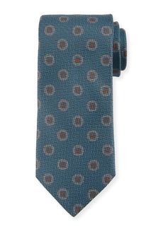 Canali Tossed Pines Silk Tie