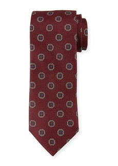 Canali Tossed Pines Silk Tie  Pink