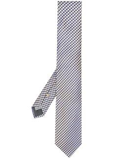 Canali triangle print silk tie