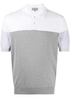 Canali two-tone polo shirt