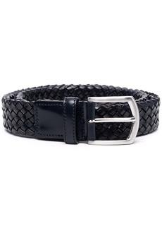 Canali woven buckle belt