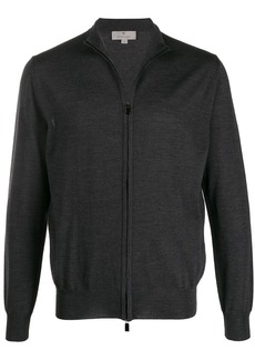 Canali zip-front long-sleeve cardigan