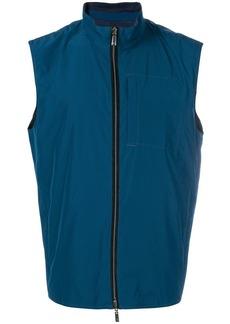 Canali zipped vest
