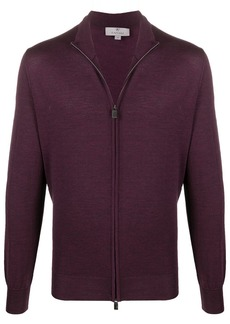 Canali zipped wool cardigan