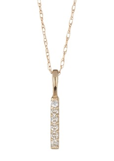 Candela 10K Yellow Gold CZ Bar Necklace