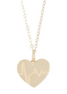 Candela 10K Yellow Gold Heartbeat Pendant with Gold Filled Chain