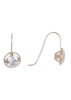 Candela 10K Yellow Gold Swarovski CZ Drop Dangle Earrings