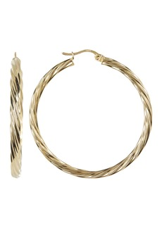 Candela 14K Gold Plated Sterling Silver 40mm Twisted Hoop Earrings
