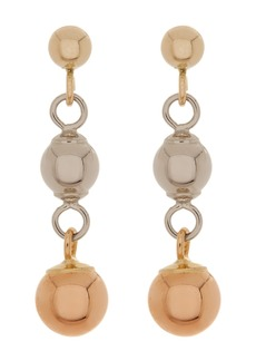 Candela 14K Tricolor Gold Ball Dangle Earrings