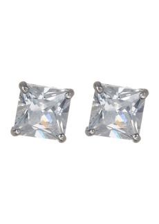 Candela 14K White Gold CZ Stud Earrings