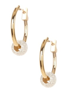 Candela 14K Yellow Gold & Sterling Silver Beaded 13mm Hoop Earrings