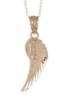 Candela 14K Yellow Gold Angel's Wing Necklace
