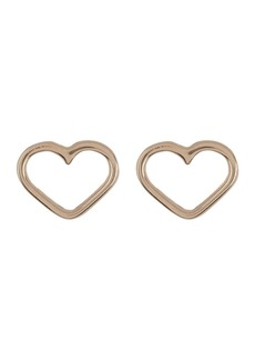 Candela 14K Yellow Gold Open Heart Stud Earrings