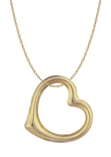 Candela 14K Yellow Gold Polished Open Heart Charm Necklace