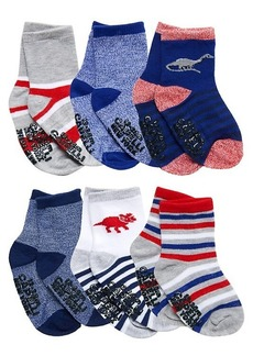Capelli New York Baby Boy's & Little Boy's 6-Pack Dino Socks