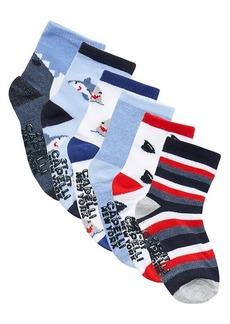 Capelli New York Baby Boy's & Little Boy's 6-Pack Striped Crew Socks
